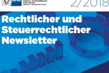 Mojmír Ježek und Roman Macháček in dem Rechtlichen und Steuerrechtlichen Newslettter der Deutsch-Tschechischen Handels- und Industriekammer Nr. 2 2018 zu den DS-GVO – Grundlagen im Rahmen einer M&A Transaktion in Tschechien