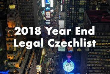Die 10 wichtigsten Dinge, die jeder, der eine tschechische Gesellschaft besitzt, bis zum Ende des Jahres 2018 tun sollte