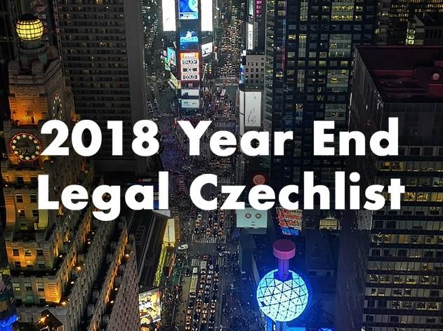 ECOVIS Ježek 2018 Year End CheckList