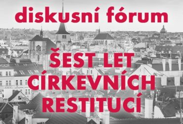 Discussion Forum on Czech Church Restitutions on November 28, 2018
